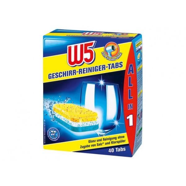 Таблетки для посудомоечной машины W5 Classic, 60 шт