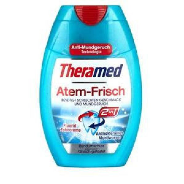 Зубная паста - ополаскиватель Theramed Atem-Frisch 2in1, 75 мл