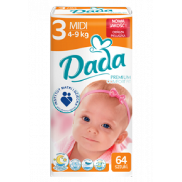 Подгузники Dada Comfort Fit 3 (4-9 кг), 64 шт