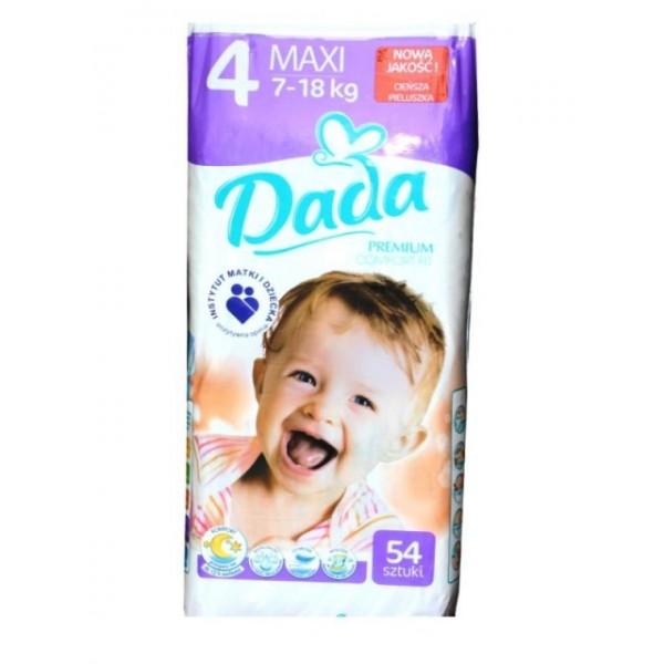 Подгузники Dada Pemium Comfort Fit 4 (7-18 кг), 54 шт