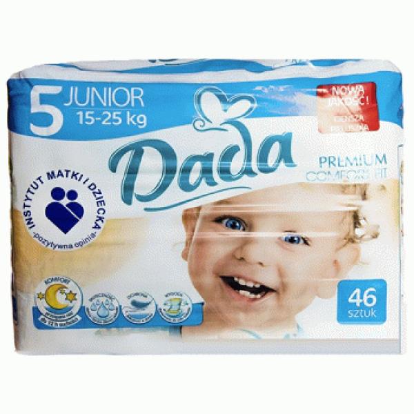 Подгузники Dada Comfort Fit 5 (15-25 кг), 46 шт