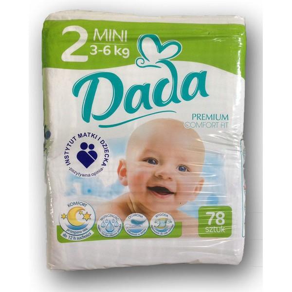 Подгузники Dada Premium 2 (3-6 кг), 78 шт