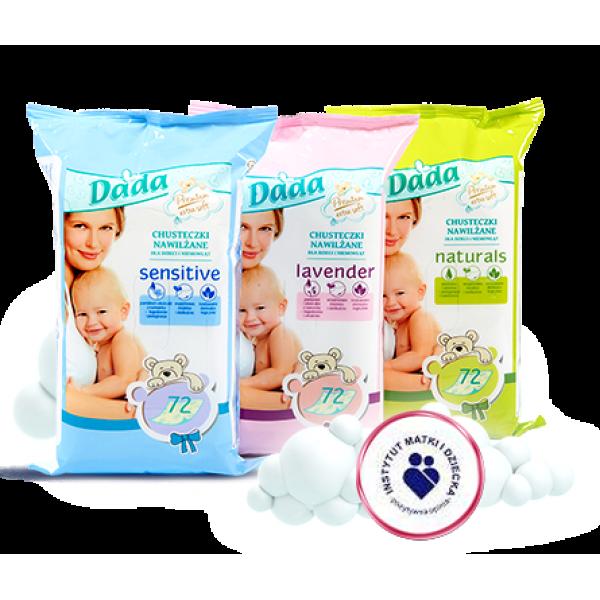 Детские влажные салфетки Dada Lavender, 72 шт